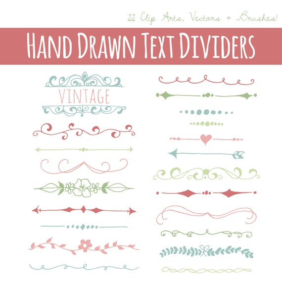 Text Divider Vector Pretty Text Divider Clip Art