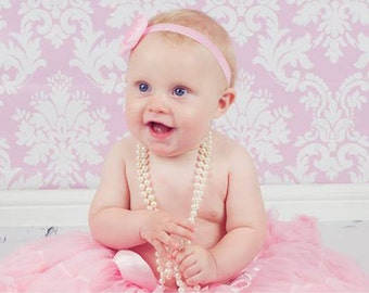 WA70 Baby Pink and White Wallpaper Photography Backdrop