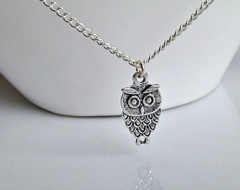 Owl Necklace, Bridesmaid Gifts, Owl Pendant, Silver Owl Necklace, Woodland Wedding, UK Seller, Daughter Gifts, BFF Gifts, Owl Jewellery
