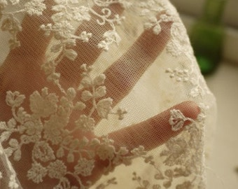 Bridal Lace FabricHollowed Out Fabric for Wedding Gown