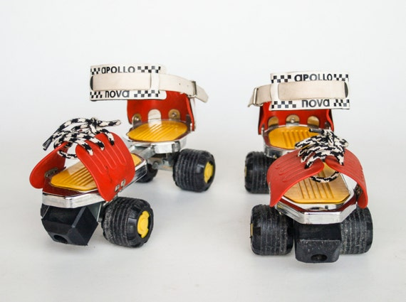 adjustable roller skates retro red and yellow rolleer skates. Black Bedroom Furniture Sets. Home Design Ideas