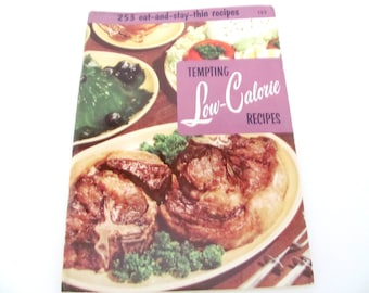 Vintage Low Calorie Recipe Booklet, 1950's Culinary Arts Institute, Diet Recipes, Vintage Cookbook, 1950's Old Cookbook