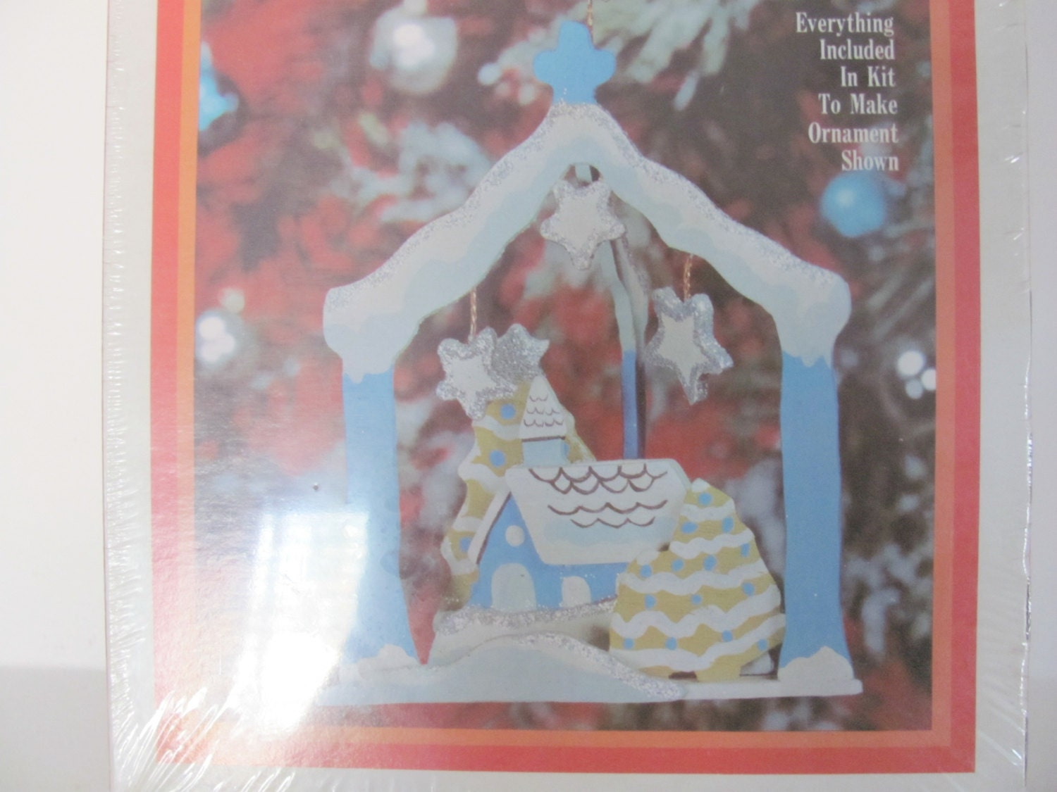 Craft master paint by number kits -  Craft Master Paint By Number Wood Ornament Kit Winter House Ornament Christmas Decor Sold By Thirstyowlvintage