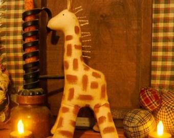 Primitive Giraffe Shelf Sitter