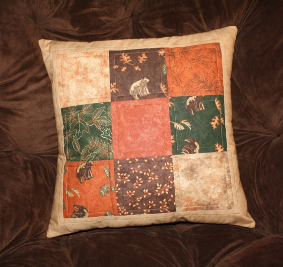 Decorative Quilted Pillow Covers : Pillow Cover Quilted Pillow Cover Home Decor Bears