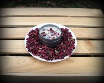 10 - 4oz Rose Petal Soy Candle Tins