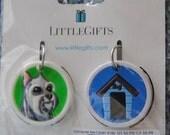 Key cover Dog collar charm Schnauzer Dog house Pet supply