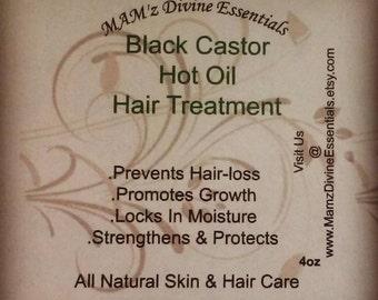 Black Castor Hot Oil Hair Treatments