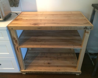Pallet-Wood Kitchen Cart