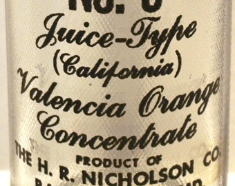 Valencia Orange Product of the H.R. Nicholson Co. Baltimore, MD  Soda Bottle
