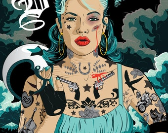 Tattoo Roller Derby poster