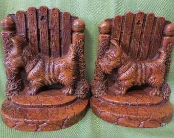 Vintage Pair of Scottie Dog Bookends