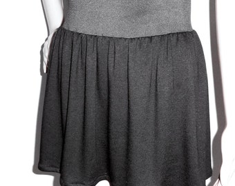 Black Mini Skirt - Elastic Waist