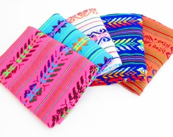 Mexican Fabric, aztec fabric Bundle, Tribal fabric, houseware, embroidered fabric, half yard bundle, Fabric for wedding, Fiesta decoration.