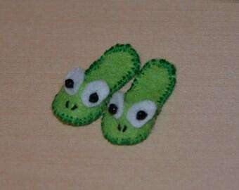 Frog slippers Etsy
