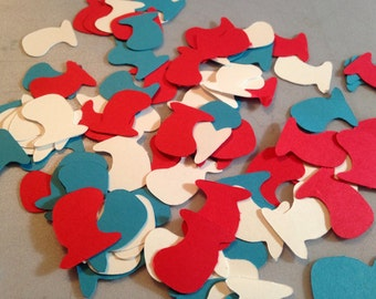 Cat in the Hat confetti, 300 pc, Dr Seuss confetti, Dr Seuss party
