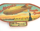 Vintage Needle Book - Dirigible - Historic Collectible