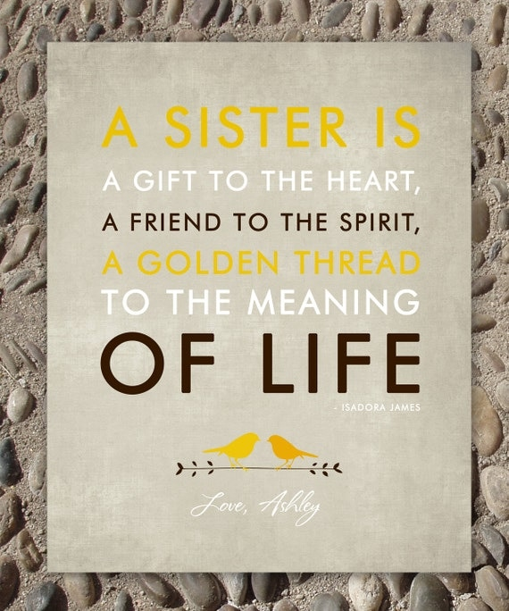 Best Wedding Gift For Cousin Sister : SISTERS gift print - Personalized gift for your Sister - Wedding Gift ...