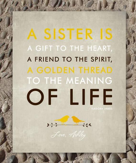 Perfect Wedding Gift For Sister : SISTERS gift print - Personalized gift for your Sister - Wedding Gift ...
