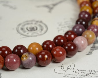Mookaite smooth round bead 8mm,15.5 inches full strand