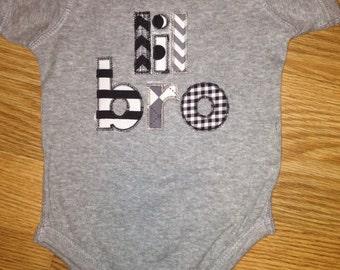 Lil Bro Zig Zag Stitch Embroidery Design INSTANT DOWNLOAD