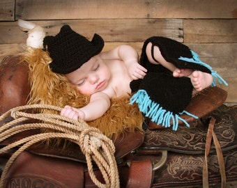 Cowboy Hat, Chaps, Baby Cowboy Hat, Cowboy Hat Chaps, Cowboy, Photography, Prop, Newborn, Toddler, Kids, Cowboy Costume, Boy, Girl, Child
