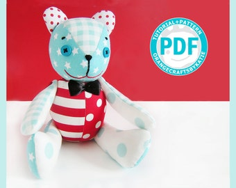 Teddy bear / PDF Patterns and Sewing Tutorial /  toy