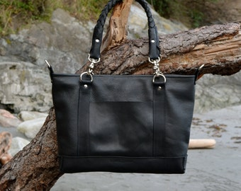 Classic Messenger in Black and Silver