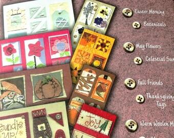 Scrapbooking Embellishments, Seasons, Holidays, Paper Sheets, Tags, Destash Lot