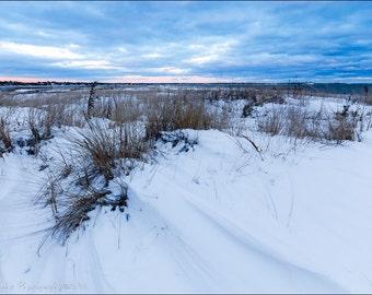 Dowse's Beach Osterville Winter Sunset Beach Dunes Cape Cod Fine Art Landscape Print