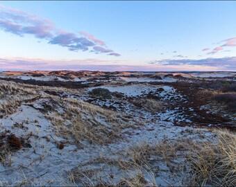 Sandy Neck Sunset Cape Cod Barnstable Dunes Fine Art Canvas