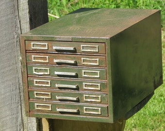 Vintage Steelmaster Index Card Filing Cabinet