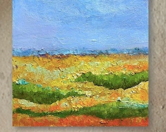 Lazy Days of Summer, abstract landscape,rich texture, oil on canvas