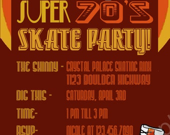 70's Roller Skate Party