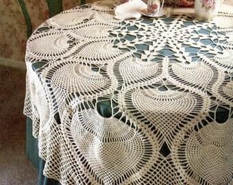 Heirloom Pineapple Tablecloth Crochet Pattern