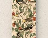 iphone 4, 5 or 6 case - flip case - Bird - antique - Vintage - cover - illustration - Warbler - Samsung Galaxy S3 S4 S3mini S4 mini S5