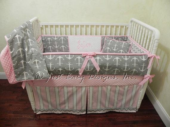 Custom Nautical Baby Bedding Set Salem Girl Baby Bedding