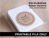 Instant Download!  Eid Money Packet/Envelope- PRINTABLE DIY ONLY. 6 Designs!