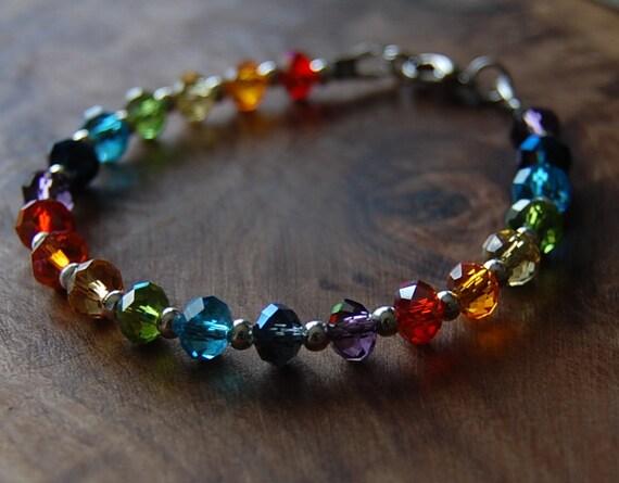 rainbow bracelet chakra bracelet bracelet rainbow