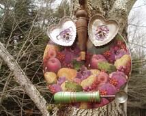 Handmade Recycled Upcycled Owl Viola Hootenanny