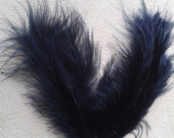 50 4inch Turkey Feathers Black used in Native American Craft