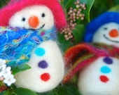 Needle Felt Snowman Christmas Decoration Kit - Foxglovefelts