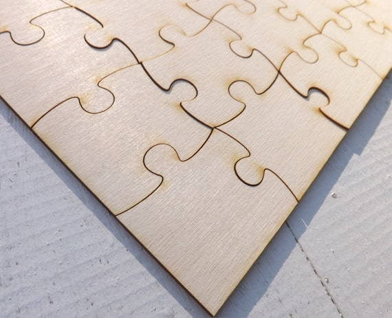Wood Puzzle Pieces Wedding Guest Book Rustic and Fun Ideas. Wedding Guest Books, Rustic Guest Books, Wood, Big Puzzle Pieces, Made to Order