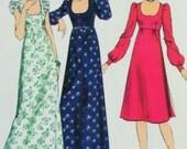 "Uncut Vintage 1970s Style Dress Sewing Pattern no 1394 Size 16 Bust 97cm 38"" Retro"