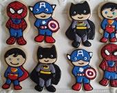 little super hero cookies