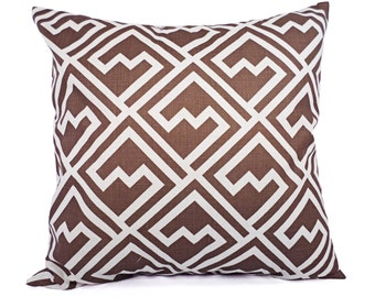 Two Brown Decorative Pillow Covers - Brown Throw Pillow Covers - Decorative Pillow Cushion Cover Brown Pillows Accent Pillow