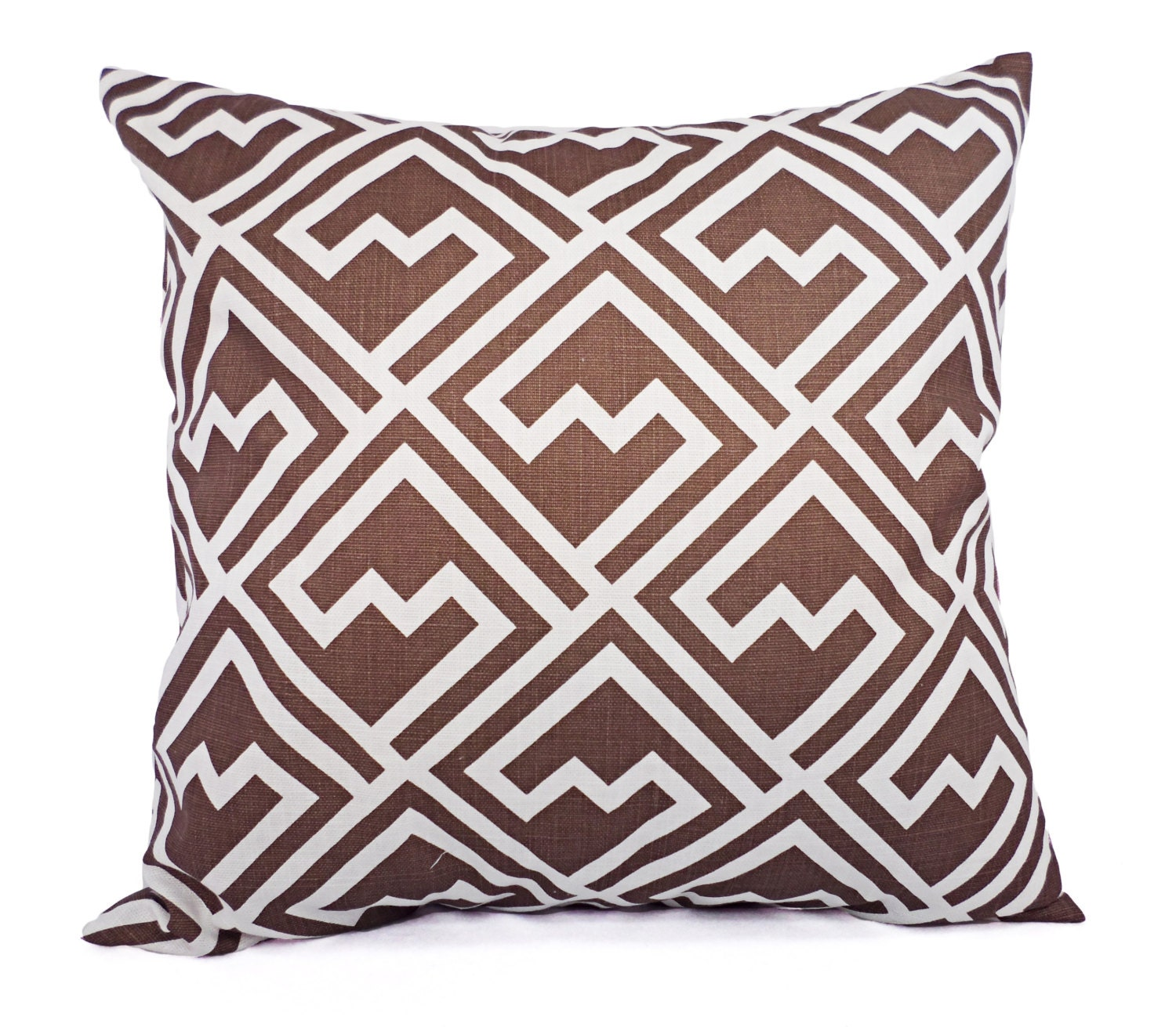 Throw Pillow Covers Brown : CLEARANCE One Brown Pillow Cover Brown Throw Pillow Cover