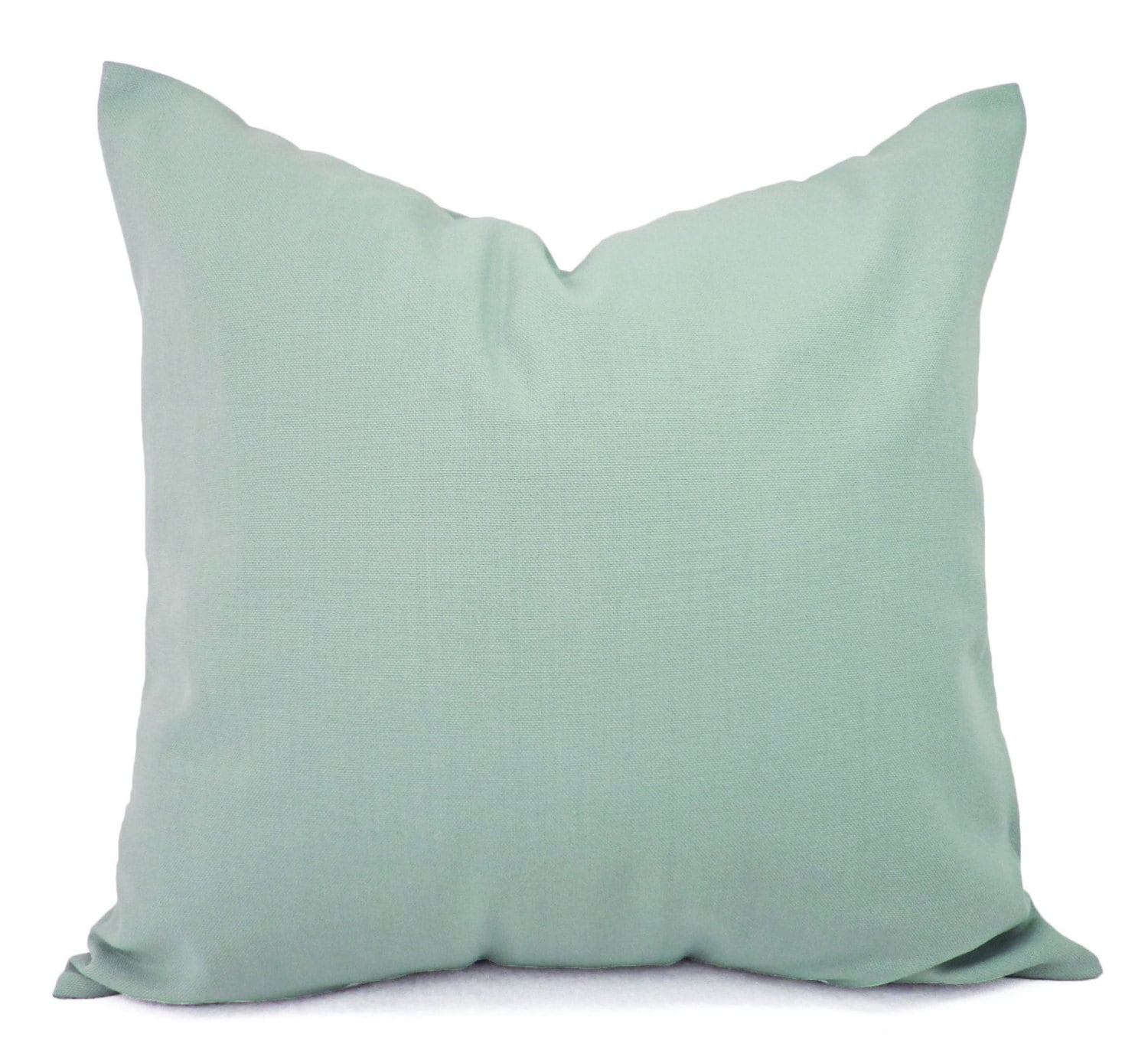 Decorative Pillows For Blue Couch : Two Solid Spa Blue Throw Pillow Covers Blue Couch Pillow
