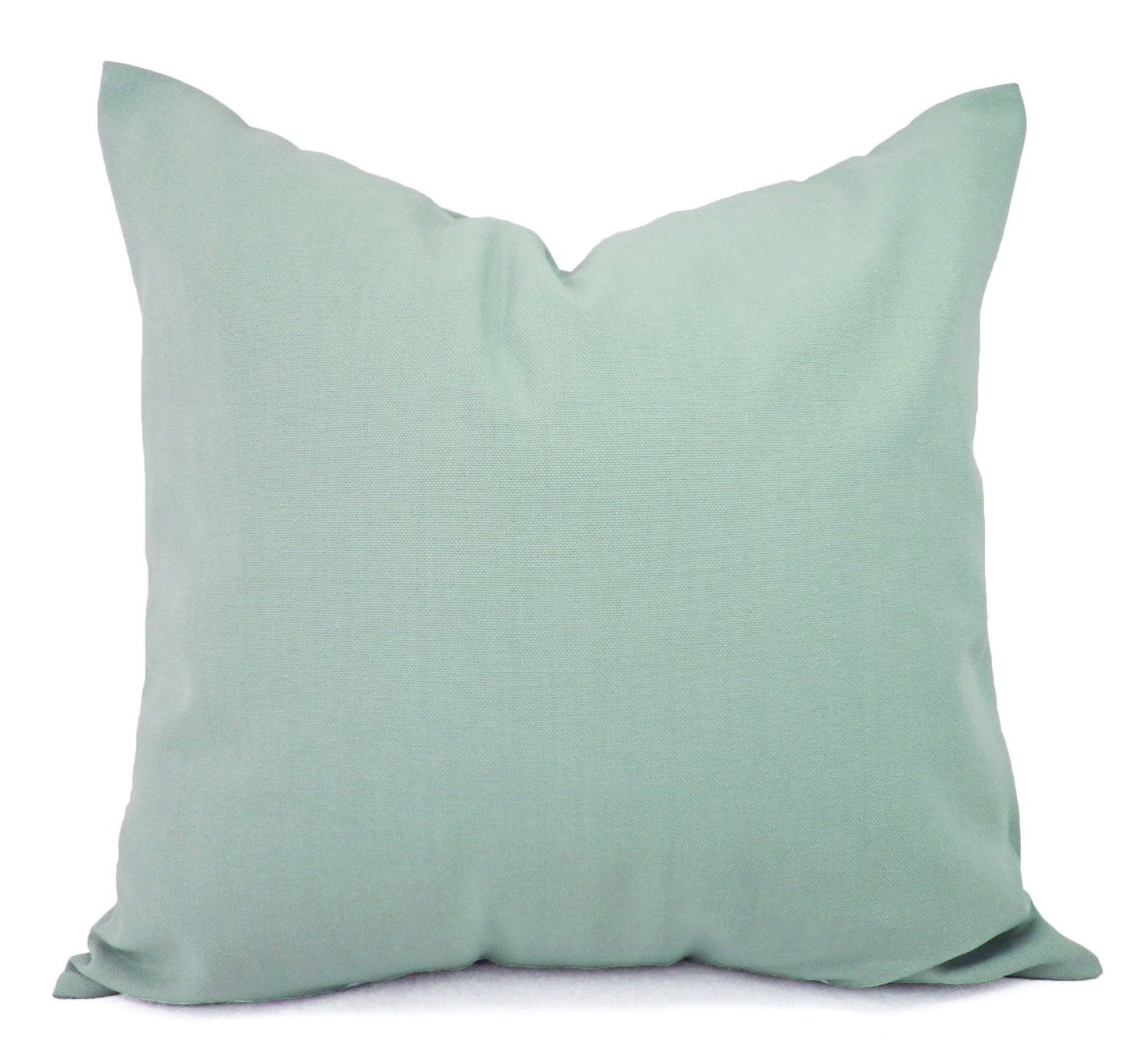Throw Pillow Covers Set : Two Solid Spa Blue Throw Pillow Covers Blue Couch Pillow