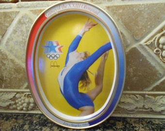 McDonalds OLYMPIC Collectable GiveAWay Vintage Metal Tray from LA 1984 Olympics Gymnastics